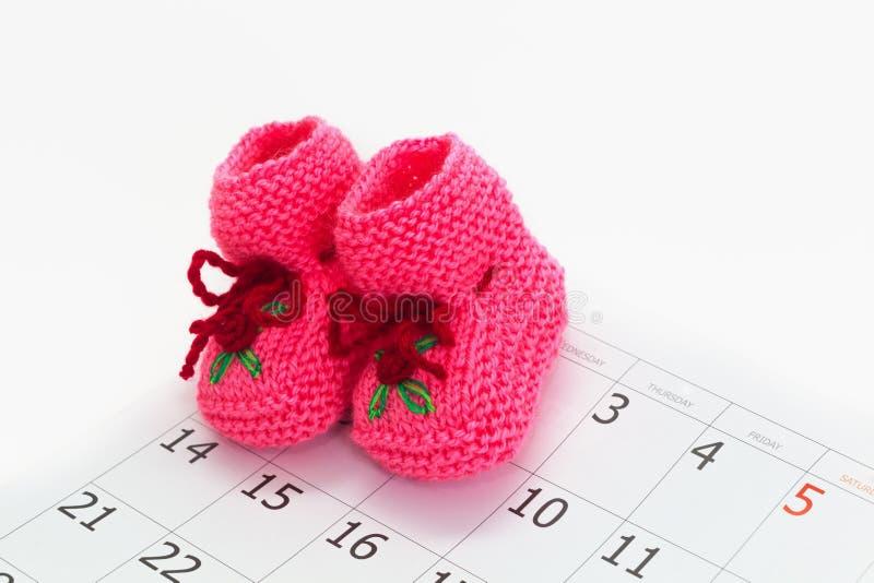 Conceito da data aprazada do bebê fotografia de stock