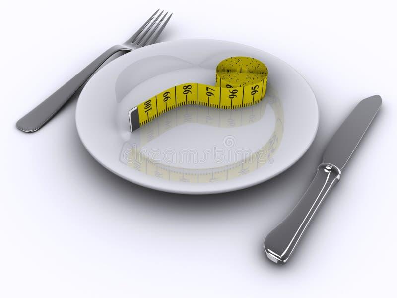 Conceito da dieta ilustração royalty free