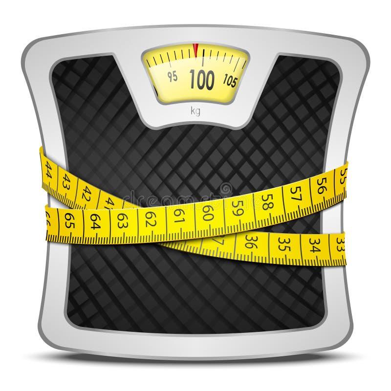 Conceito da dieta das escalas ilustração do vetor