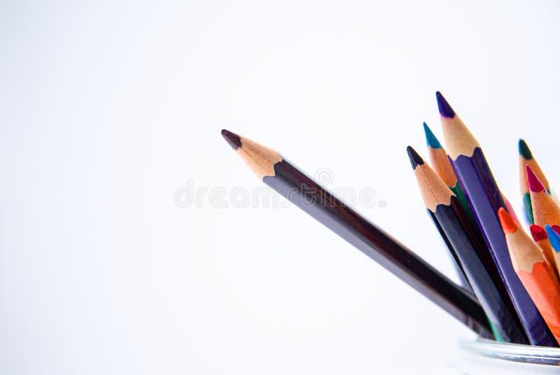 Conceito da diferença da cor fotografia de stock