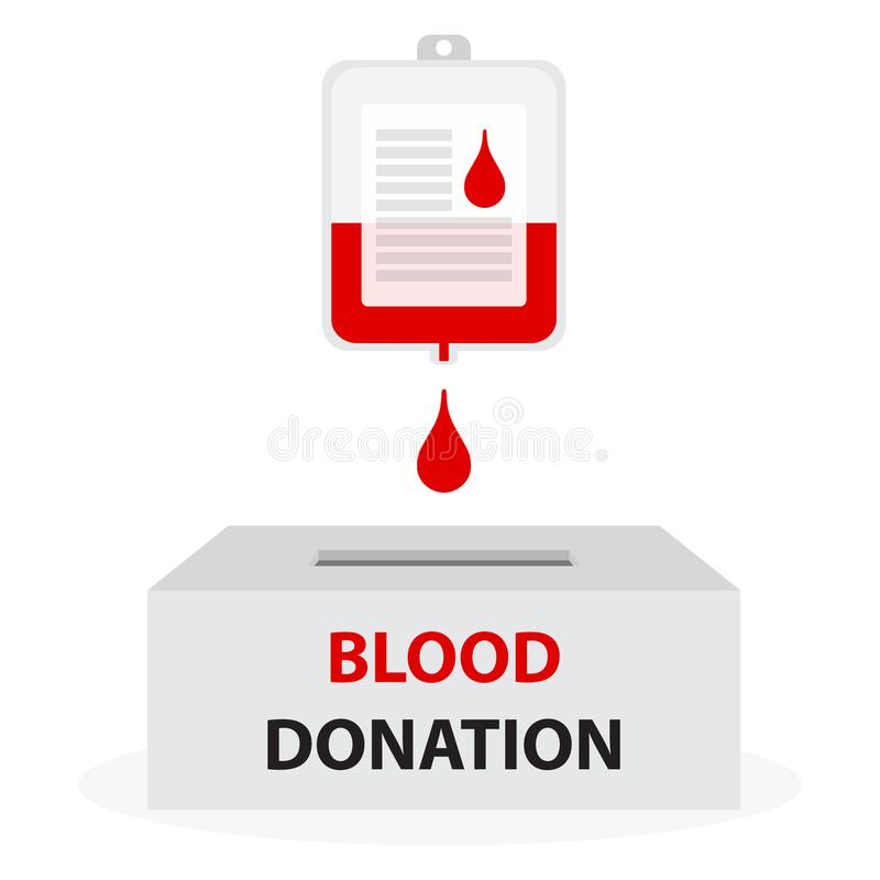 Conceito da doação de sangue ilustração royalty free