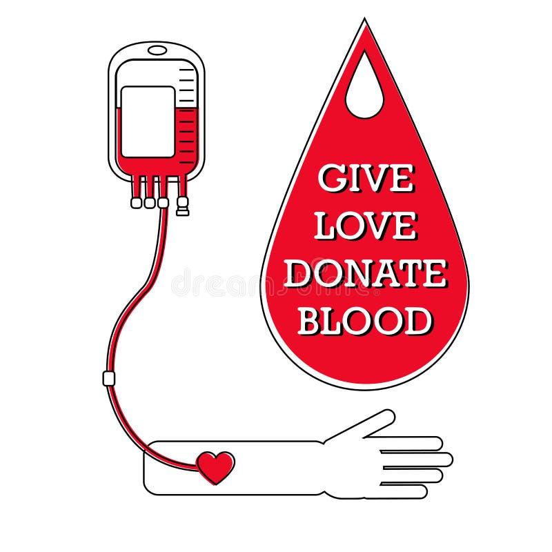 Conceito da doação de sangue ilustração do vetor