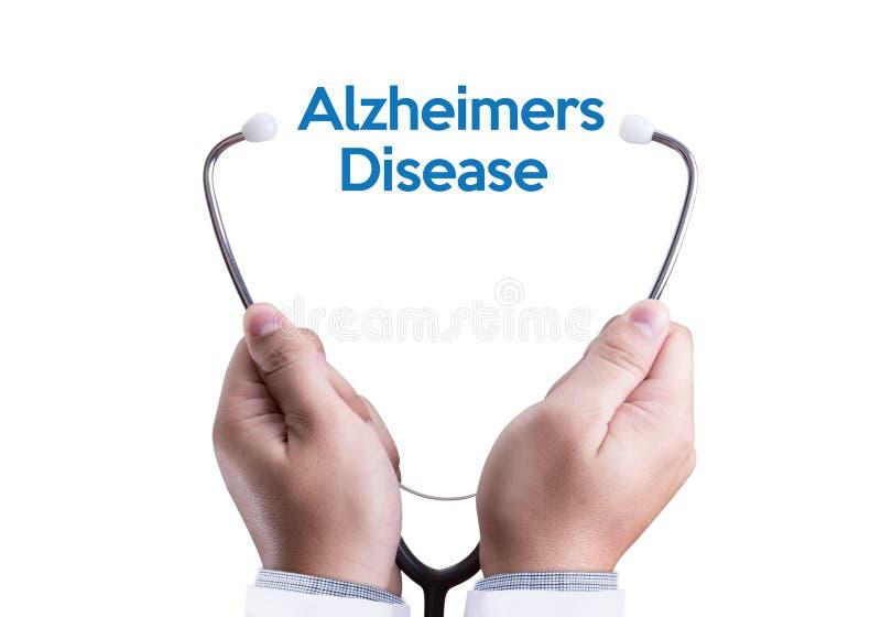 Conceito da doença de Alzheimers, doenças degenerativos Parkin do cérebro foto de stock