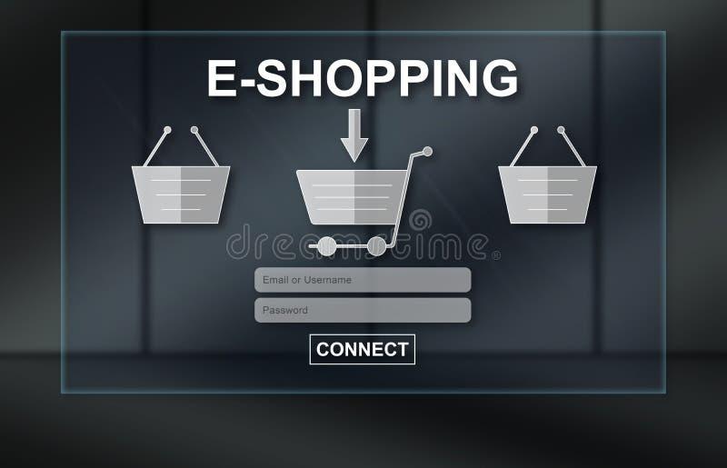 Conceito da e-compra fotografia de stock