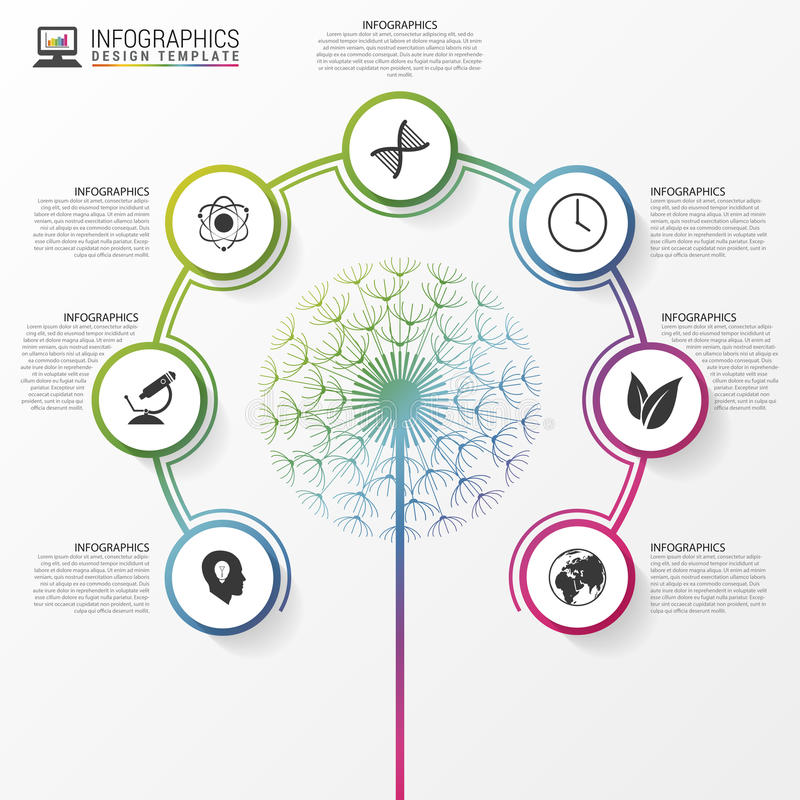 Conceito da ecologia Molde do projeto moderno de Infographic Vetor ilustração stock