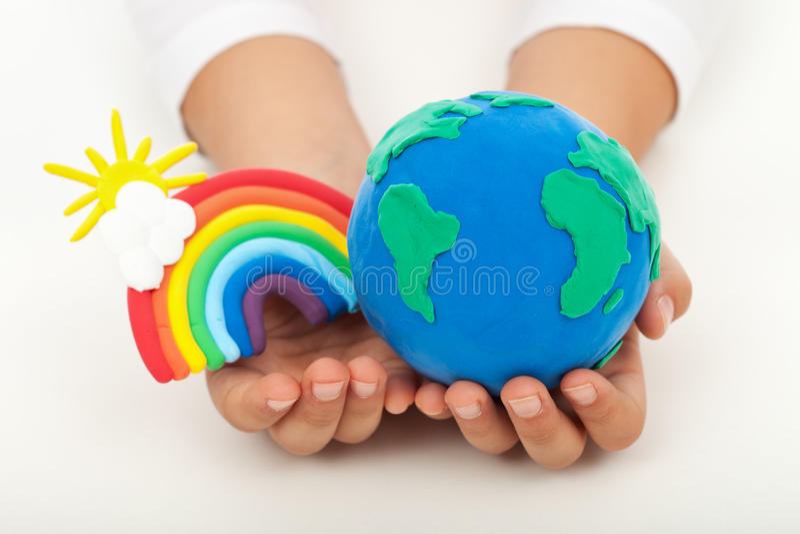 Conceito da ecologia - uma terra limpa imagens de stock royalty free