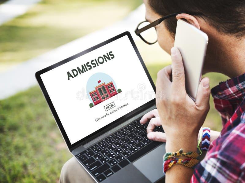 Conceito da educação escolar da admissão do grau de licenciado fotos de stock