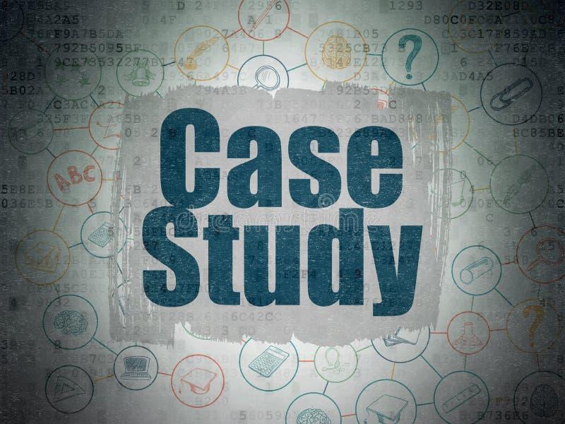 Conceito da educação: Estudo de caso no papel de Digitas ilustração stock