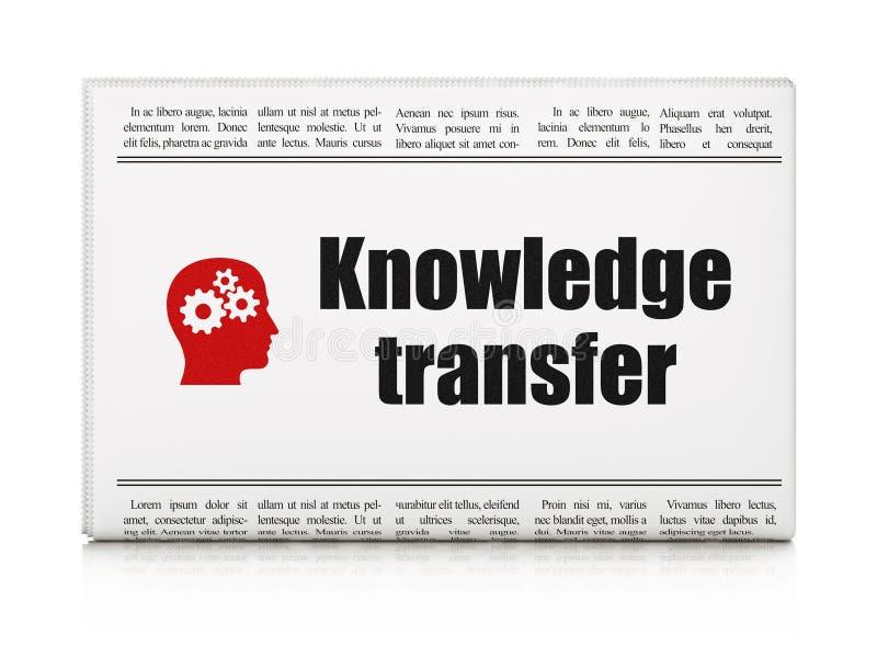 Conceito da educação: jornal com conhecimento foto de stock royalty free