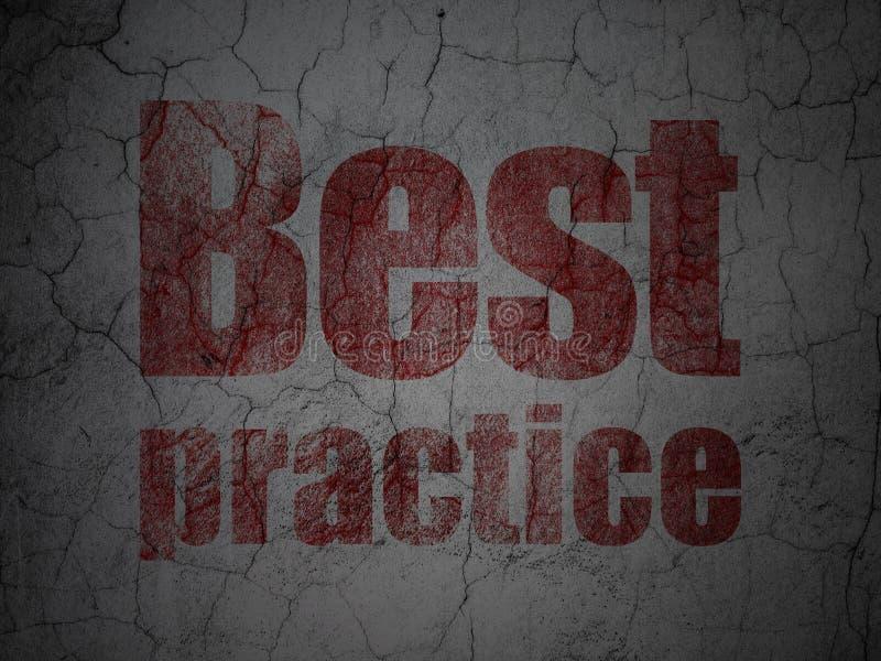 Conceito da educação: Melhor prática no fundo da parede do grunge ilustração do vetor