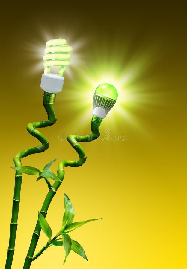 Conceito da eficiência na iluminação foto de stock royalty free