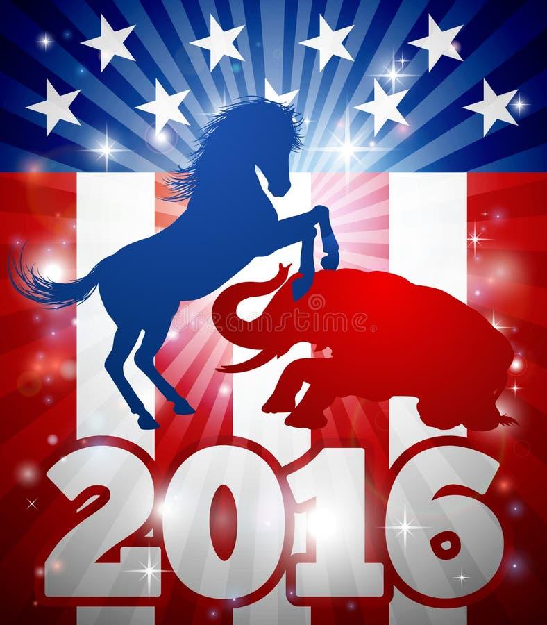 Conceito da eleição de 2016 americanos ilustração royalty free