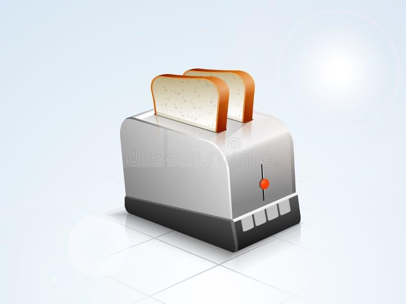 Conceito da eletrônica com aparelho eletrodoméstico ilustração do vetor