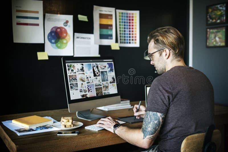 Conceito da empresa da estratégia de Negócio Contemporâneo Empresa fotografia de stock royalty free