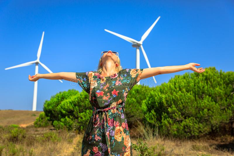 Conceito da energia alternativa fotografia de stock royalty free