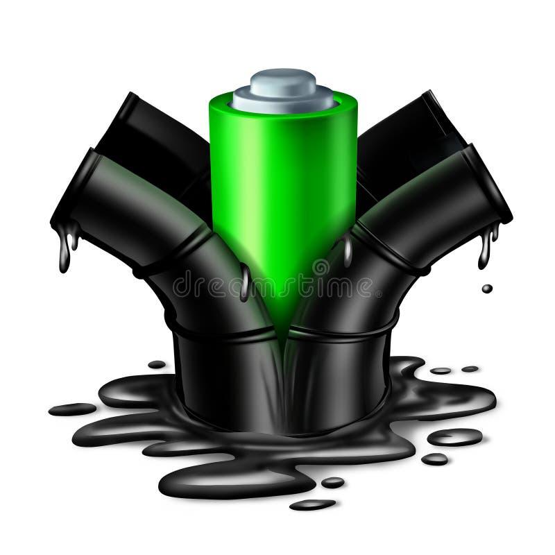 Conceito da energia da bateria ilustração royalty free