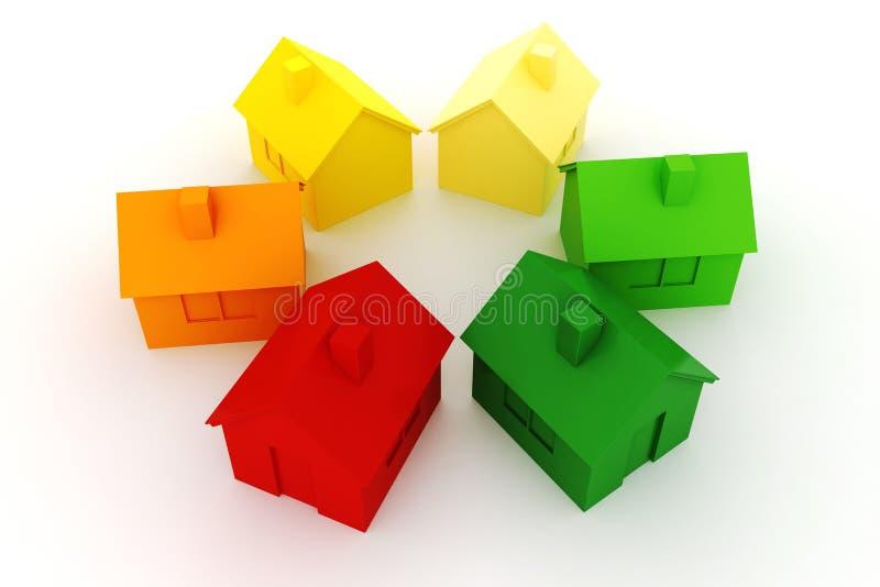 conceito da energia do verde da casa 3d ilustração stock
