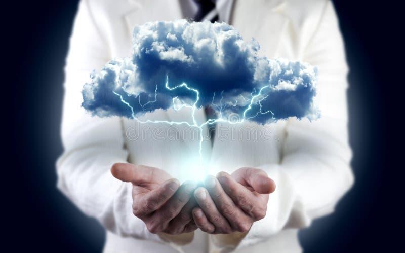 Conceito da energia e da eletricidade ilustração royalty free
