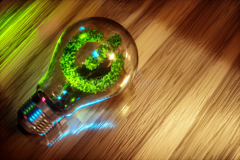 Conceito da energia limpa ilustração stock