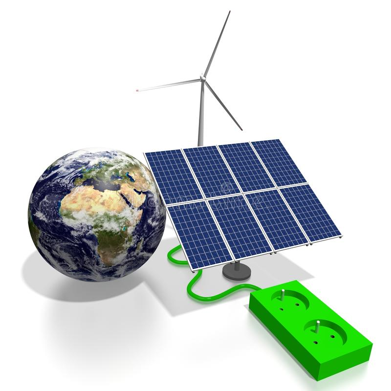 Conceito da energia renovável ilustração do vetor