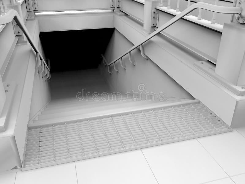 Conceito da entrada do metro ilustração stock