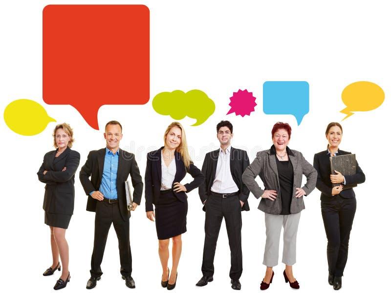 Conceito da equipe do negócio de uma comunicação foto de stock