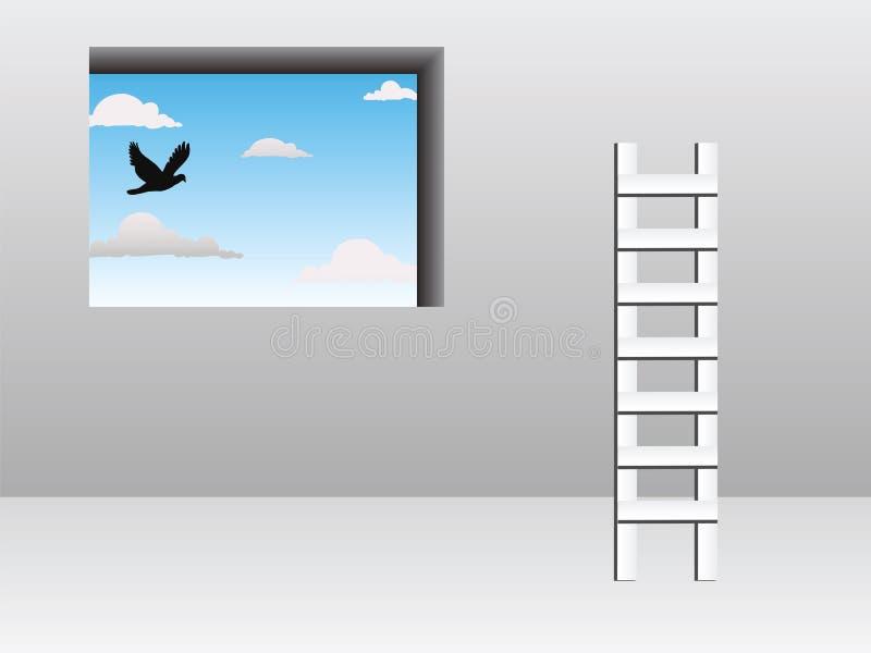 Conceito da escada ilustração stock