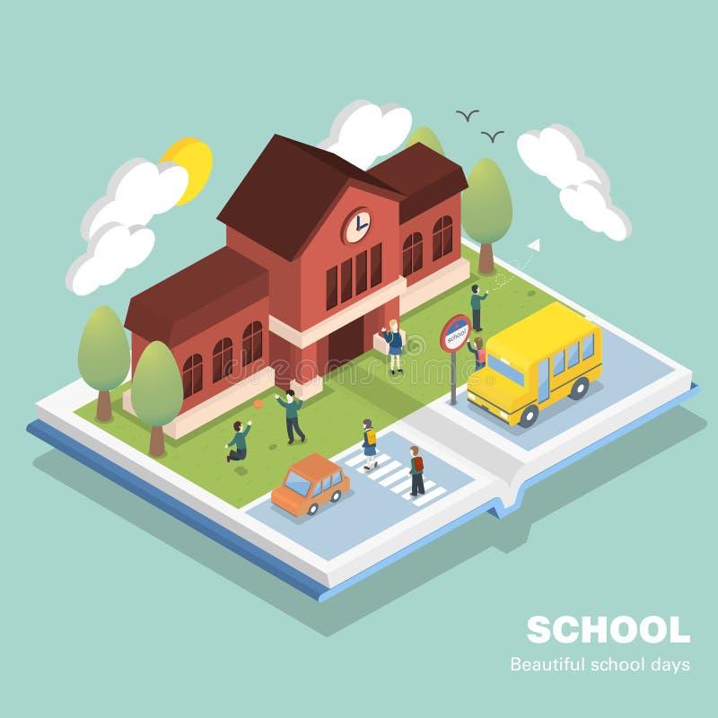 Conceito da escola ilustração stock