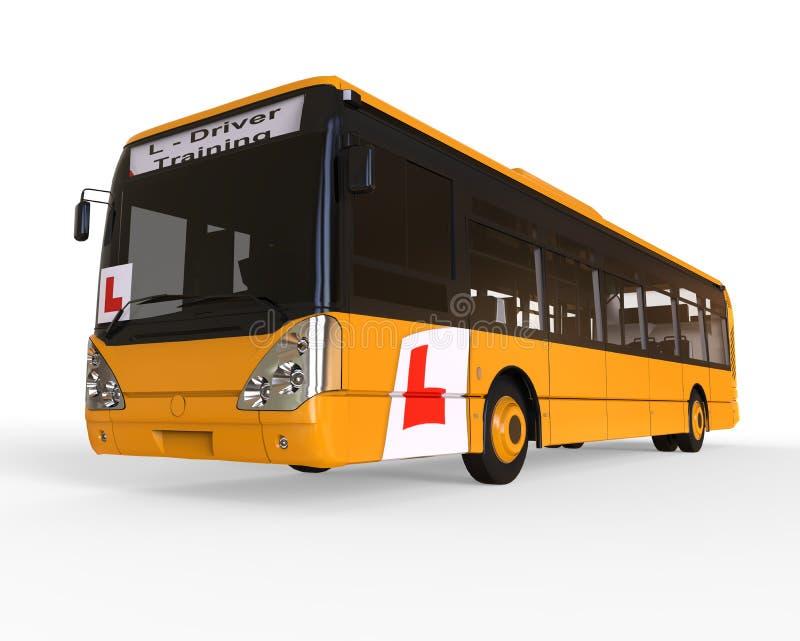 Conceito da escola de condução de Buss ilustração do vetor
