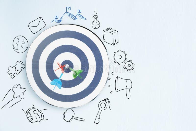 Conceito da escolha de objetivos e da liderança imagens de stock