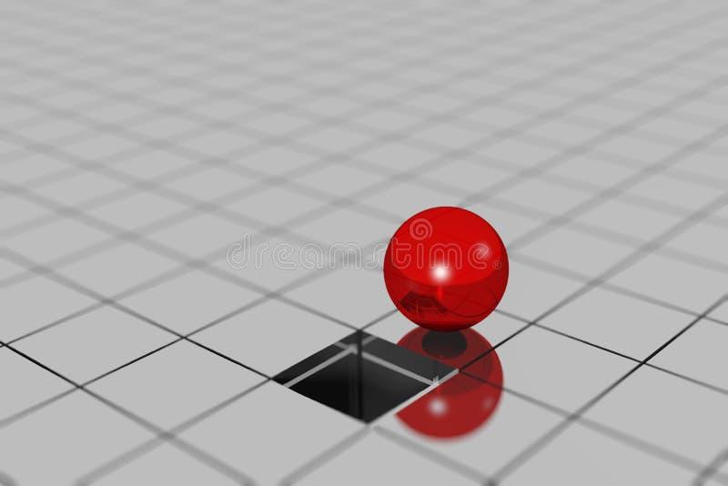 conceito da esfera 3D ilustração royalty free
