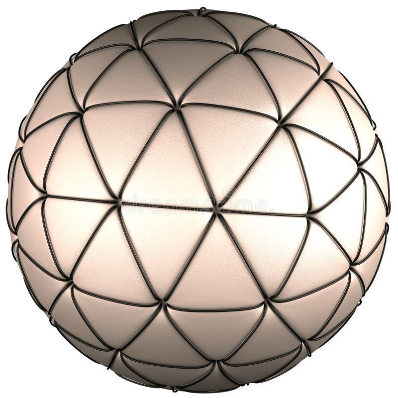 Conceito da esfera do couro branco isolado no branco ilustração royalty free