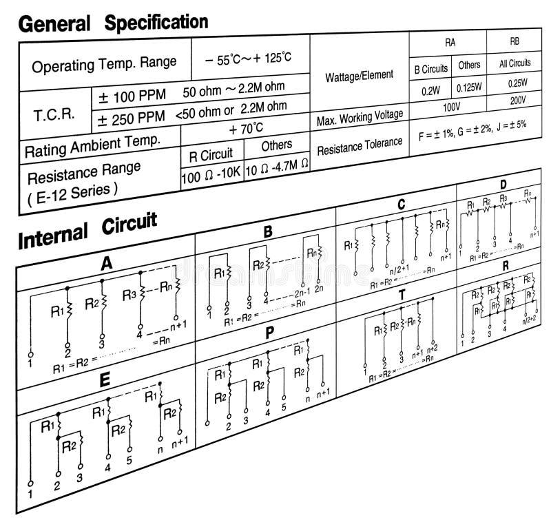 Conceito da especificação do circuito no branco, imagens de stock royalty free