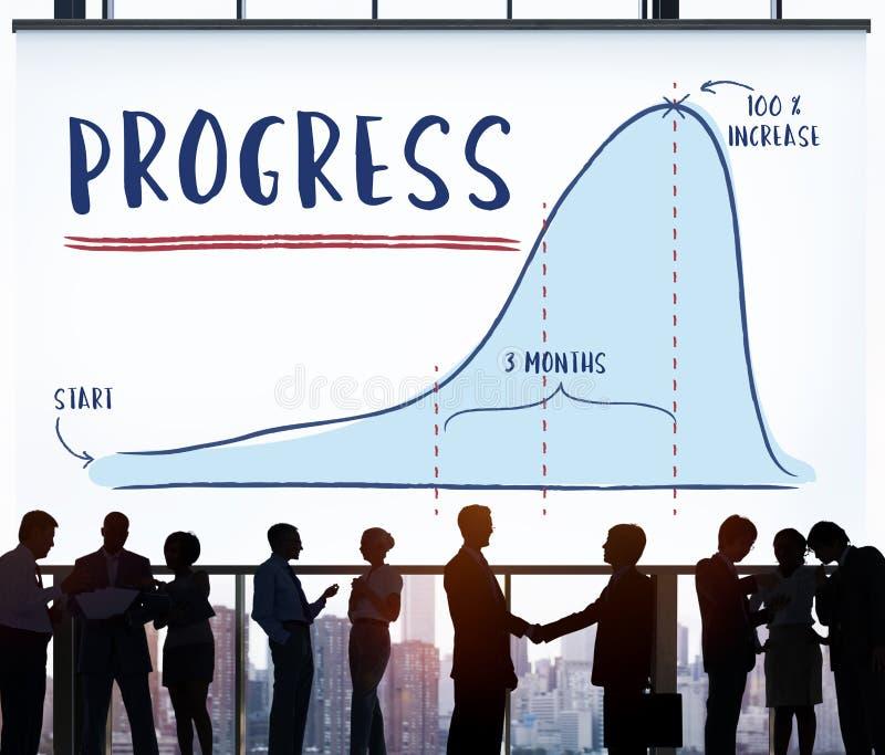 Conceito da estratégia da analítica do relatório de progresso fotos de stock royalty free