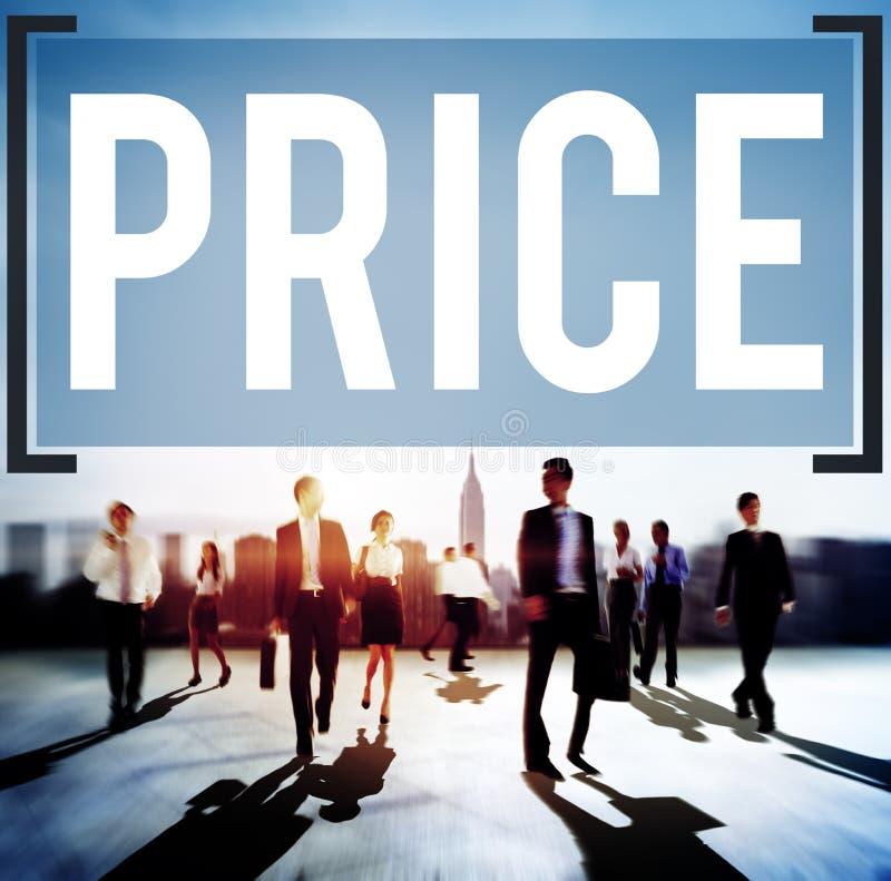 Conceito da estratégia de marketing da venda do custo do preço imagem de stock royalty free