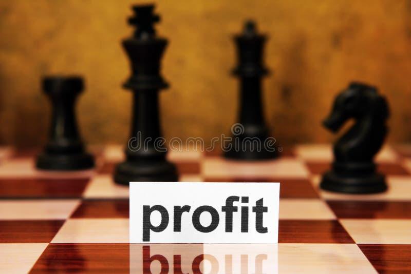 Conceito da estratégia do lucro imagem de stock royalty free