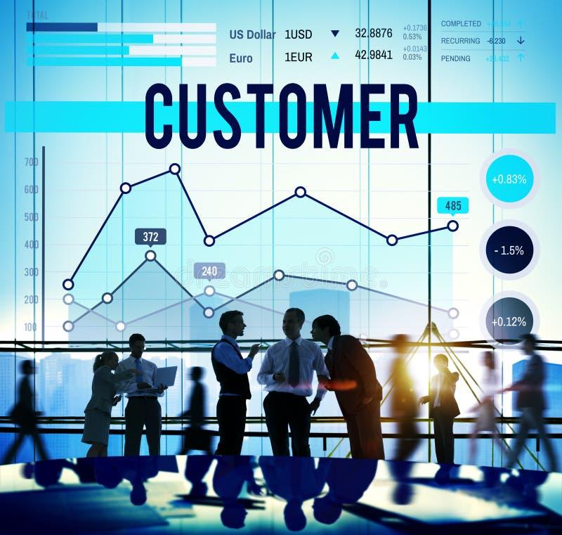Conceito da estratégia empresarial do mercado de alvo do cliente fotografia de stock royalty free