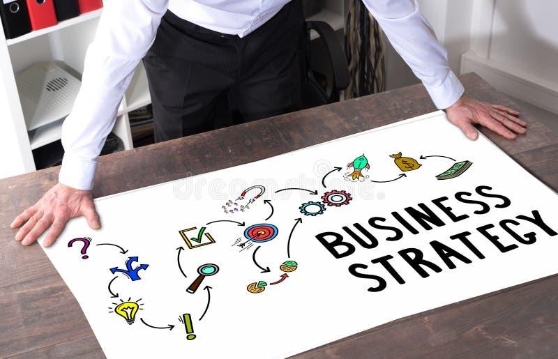 Conceito da estratégia empresarial em uma mesa foto de stock royalty free