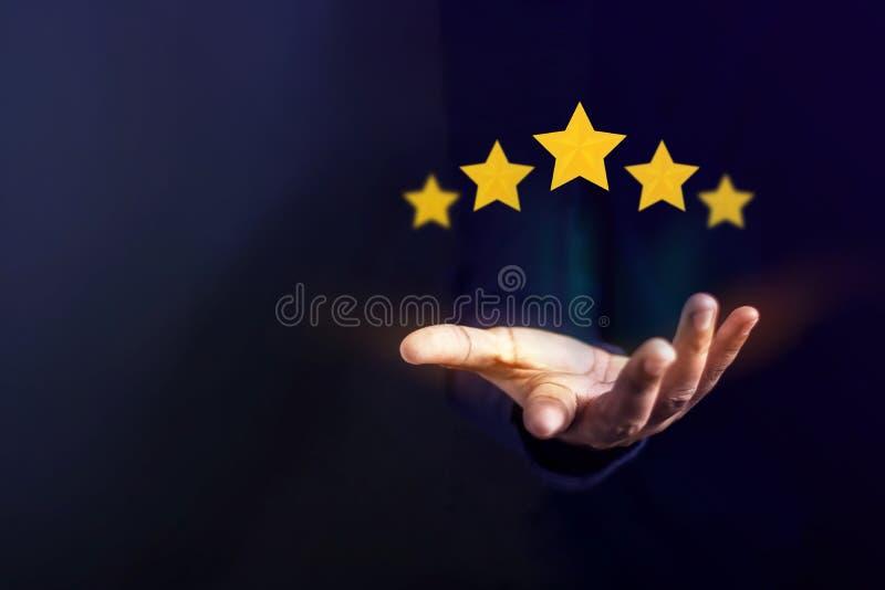 Conceito da experiência do cliente, os melhores serviços excelentes para Satisfa imagem de stock