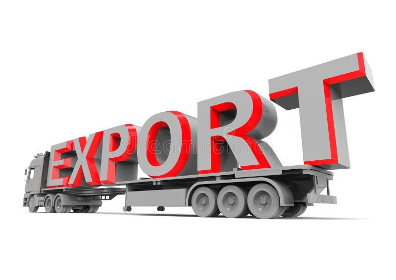 Conceito da exportação ilustração stock