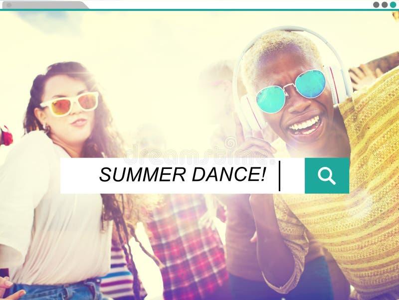 Conceito da felicidade do lazer da dança do verão da dança do verão imagens de stock