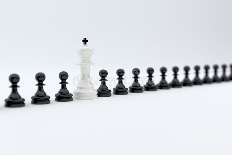 Conceito da fileira da xadrez ilustração royalty free