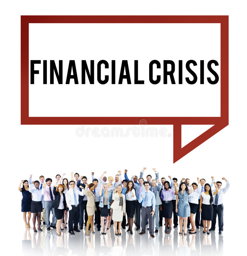 Conceito da finança da depressão da falência da crise financeira imagem de stock royalty free