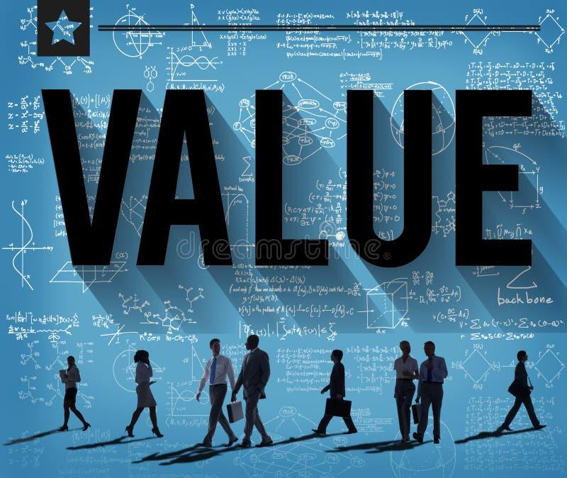 Conceito da finança da economia do dinheiro do respeito dos valores foto de stock royalty free