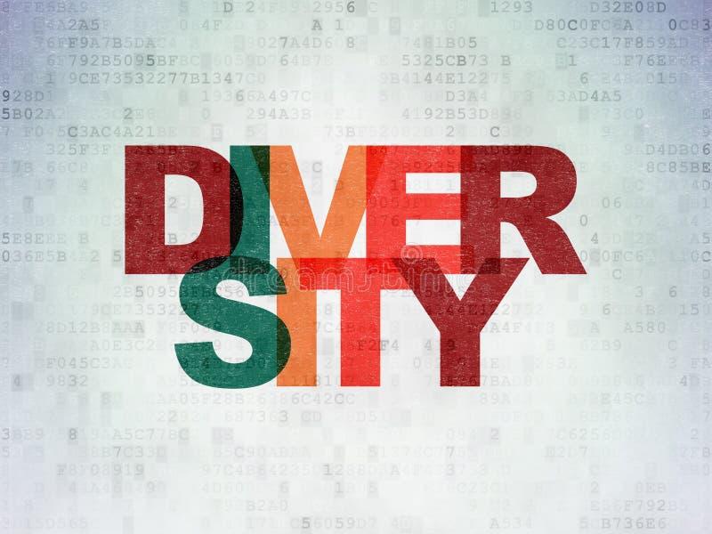 Conceito da finança: Diversidade no fundo do papel dos dados de Digitas ilustração royalty free