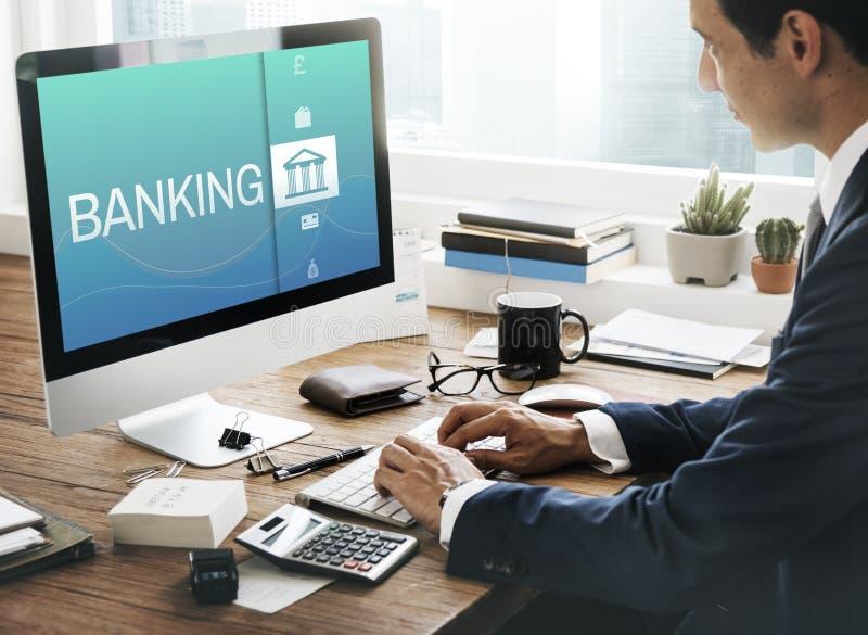 Conceito da finança do pagamento da operação bancária em linha imagem de stock royalty free