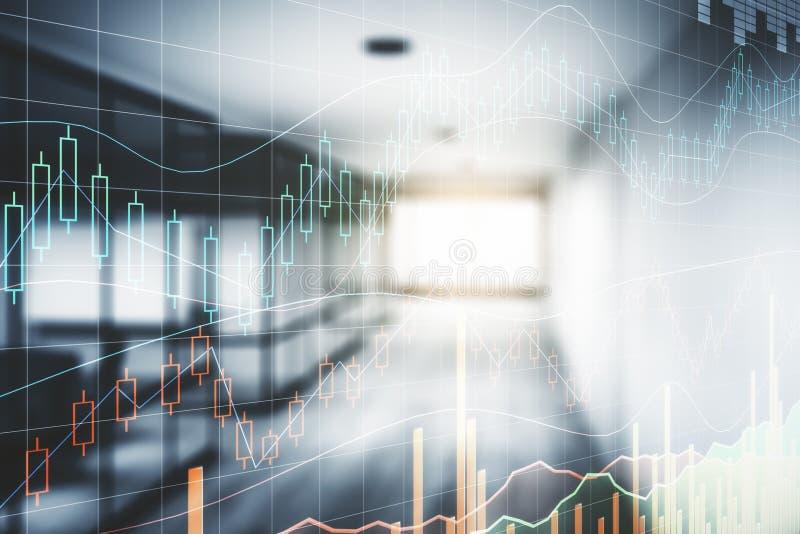 Conceito da finança e da análise imagens de stock