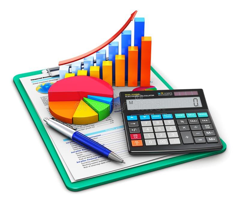 Conceito da finança e de contabilidade ilustração do vetor