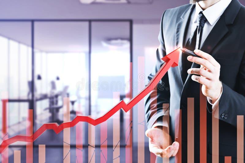 Conceito da finança e do crescimento imagens de stock royalty free