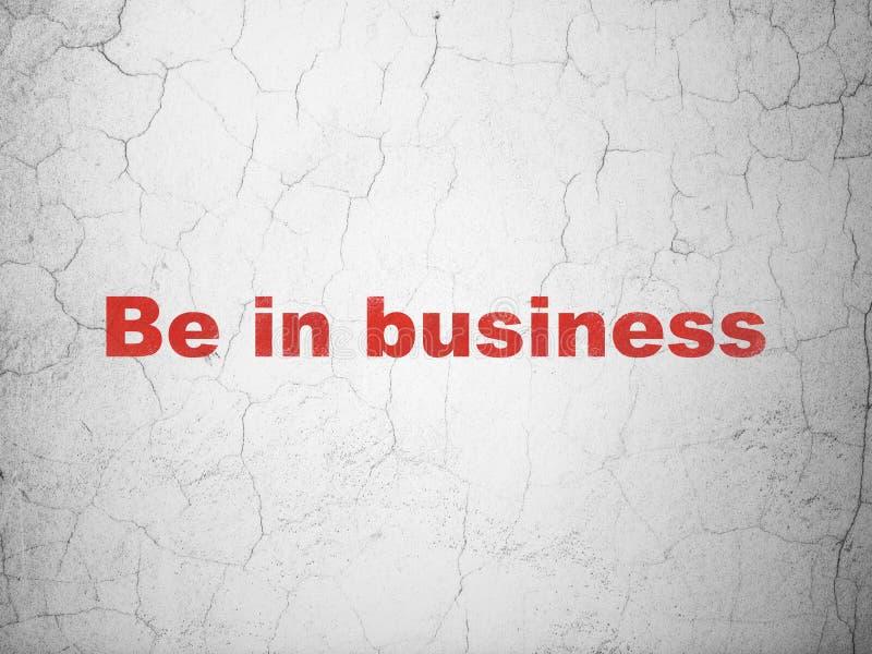 Conceito da finança: Esteja no negócio no fundo da parede imagem de stock royalty free